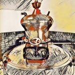 Alambik ketel van Groninger Genever Stokerij - voor jenever